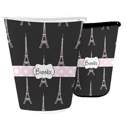 Black Eiffel Tower Waste Basket (Personalized)