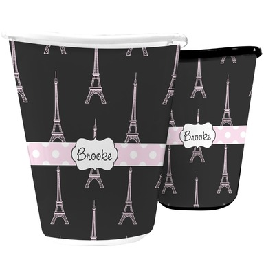 Black Eiffel Tower Waste Basket (Personalized)