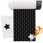 "Black Eiffel Tower Heat Transfer Vinyl Sheet (12""x18"")"