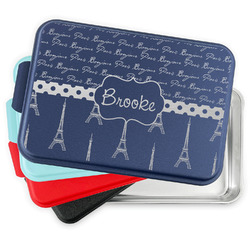 Paris Bonjour and Eiffel Tower Aluminum Baking Pan with Lid (Personalized)