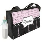 Paris Bonjour and Eiffel Tower Diaper Bag (Personalized)