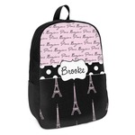Paris Bonjour and Eiffel Tower Kids Backpack (Personalized)