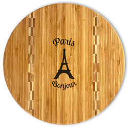 Paris Bonjour and Eiffel Tower Bamboo Cutting Board (Personalized)