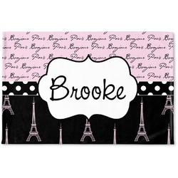 Paris Bonjour and Eiffel Tower Woven Mat (Personalized)