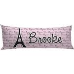 Paris Bonjour and Eiffel Tower Body Pillow Case (Personalized)