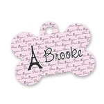 Paris Bonjour and Eiffel Tower Bone Shaped Dog Tag (Personalized)