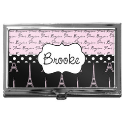 Paris Bonjour and Eiffel Tower Business Card Holder