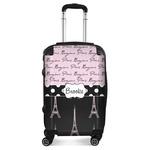 Paris Bonjour and Eiffel Tower Suitcase (Personalized)