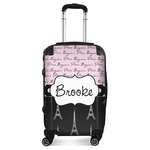 Paris Bonjour and Eiffel Tower Suitcase (Personalized)