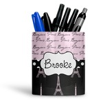 Paris Bonjour and Eiffel Tower Ceramic Pen Holder