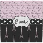Paris Bonjour and Eiffel Tower Ceramic Tile Hot Pad (Personalized)