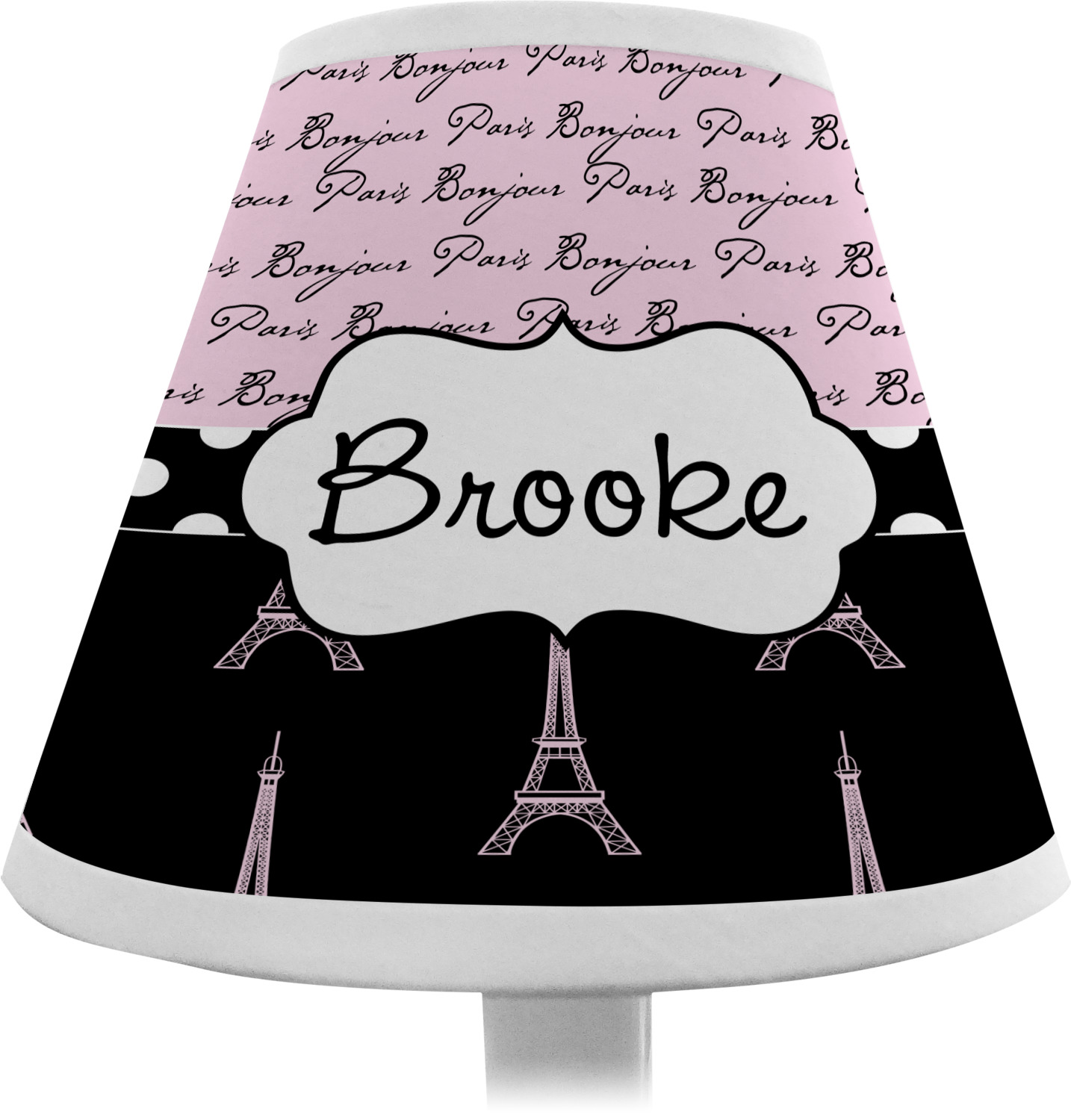 Marvelous ... Paris Bonjour And Eiffel Tower Chandelier Lamp Shade (Personalized) ...