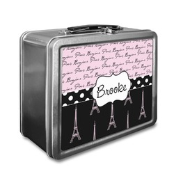 Paris Bonjour and Eiffel Tower Lunch Box (Personalized)