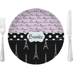 Paris Bonjour and Eiffel Tower Glass Lunch / Dinner Plates 10