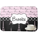Paris Bonjour and Eiffel Tower Dish Drying Mat (Personalized)