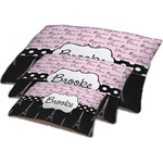 Paris Bonjour and Eiffel Tower Dog Bed w/ Name or Text