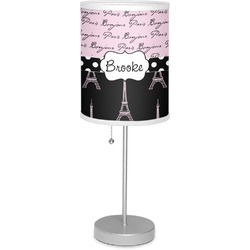 "Paris Bonjour and Eiffel Tower 7"" Drum Lamp with Shade (Personalized)"