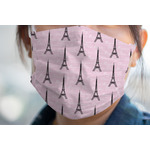 Paris Bonjour and Eiffel Tower Face Mask Cover (Personalized)