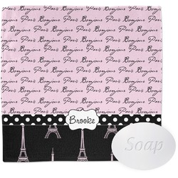 Paris Bonjour and Eiffel Tower Wash Cloth (Personalized)