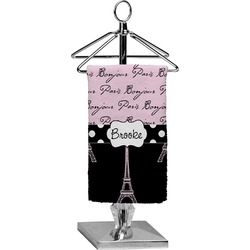 Paris Bonjour and Eiffel Tower Finger Tip Towel - Full Print (Personalized)