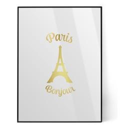 Paris Bonjour and Eiffel Tower Foil Print (Personalized)