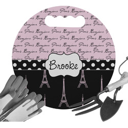 Paris Bonjour and Eiffel Tower Gardening Knee Cushion (Personalized)