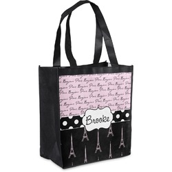 Paris Bonjour and Eiffel Tower Grocery Bag (Personalized)