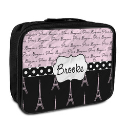 Paris Bonjour and Eiffel Tower Insulated Lunch Bag (Personalized)