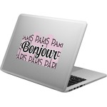 Paris Bonjour and Eiffel Tower Laptop Decal (Personalized)