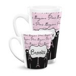 Paris Bonjour and Eiffel Tower Latte Mug (Personalized)