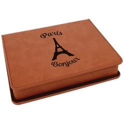 Paris Bonjour and Eiffel Tower Leatherette 4-Piece Wine Tool Set (Personalized)