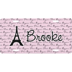 Paris Bonjour and Eiffel Tower Front License Plate (Personalized)