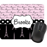 Paris Bonjour and Eiffel Tower Mouse Pad (Personalized)