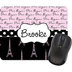 Paris Bonjour and Eiffel Tower Mouse Pads (Personalized)