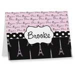 Paris Bonjour and Eiffel Tower Notecards (Personalized)