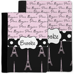 Paris Bonjour and Eiffel Tower Notebook Padfolio w/ Name or Text