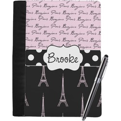 Paris Bonjour and Eiffel Tower Notebook Padfolio (Personalized)