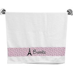 Paris Bonjour and Eiffel Tower Bath Towel (Personalized)