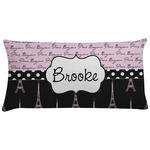 Paris Bonjour and Eiffel Tower Pillow Case (Personalized)