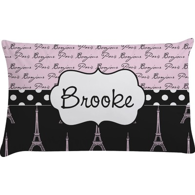 Paris Bonjour and Eiffel Tower Pillow Case (Personalized)