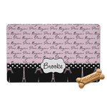 Paris Bonjour and Eiffel Tower Pet Bowl Mat (Personalized)