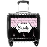 Paris Bonjour and Eiffel Tower Pilot / Flight Suitcase (Personalized)