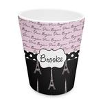 Paris Bonjour and Eiffel Tower Plastic Tumbler 6oz (Personalized)