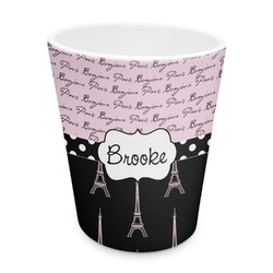 Paris Bonjour and Eiffel Tower Plastic Tumbler 6oz (Personalized)