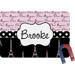 Paris Bonjour and Eiffel Tower Rectangular Fridge Magnet (Personalized)