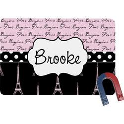 Paris Bonjour and Eiffel Tower Rectangular Fridge Magnet (Personalized)