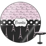 Paris Bonjour and Eiffel Tower Round Table (Personalized)