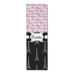 Paris Bonjour and Eiffel Tower Runner Rug - 3.66'x8' (Personalized)