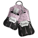 Paris Bonjour and Eiffel Tower Hand Sanitizer & Keychain Holder (Personalized)