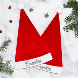 Paris Bonjour and Eiffel Tower Santa Hat (Personalized)